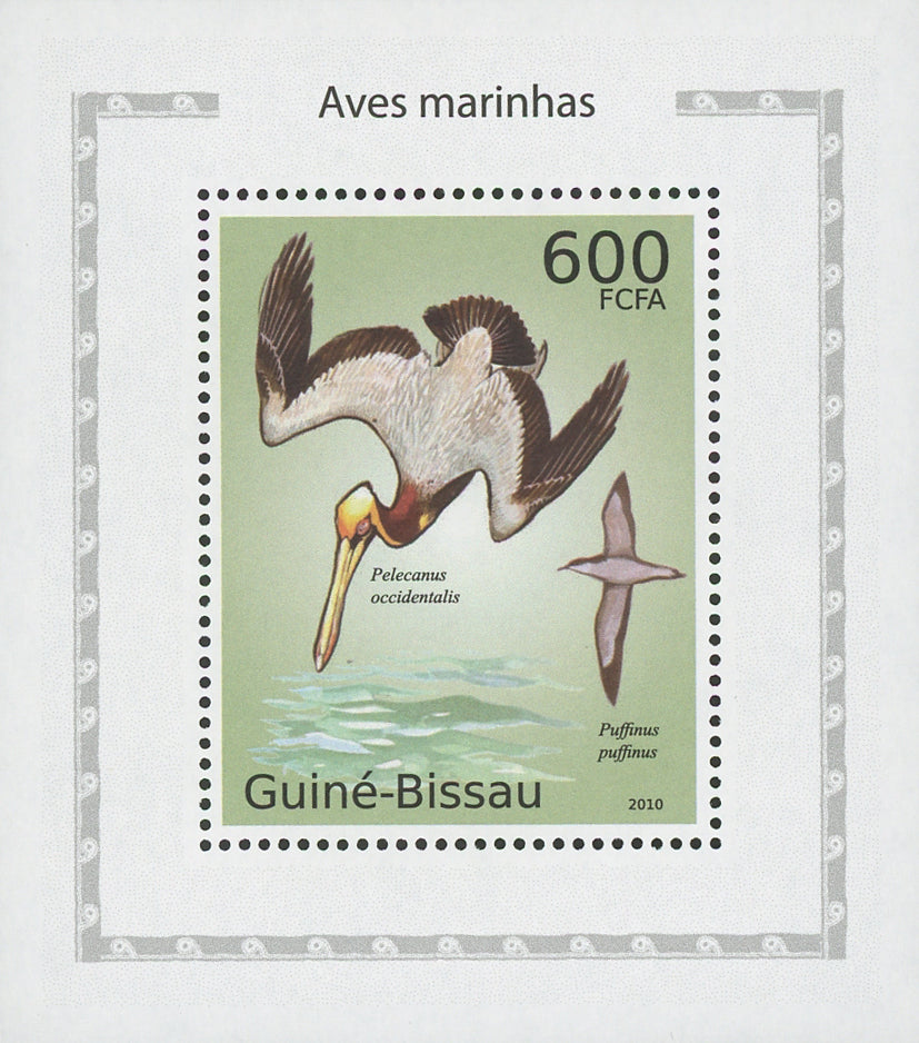 Sea Birds Puffinus Puffinus Mini Sov. Sheet MNH
