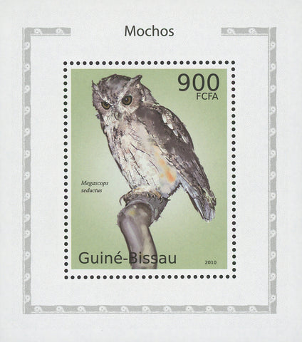 Owls Megascops Seductus Birds Mini Sov. Sheet MNH