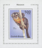 Macaque Simia Trivirgata Monkey Mini Sov. Sheet MNH