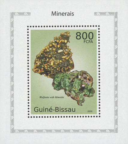 Topical stamps Minerals Wulfenite with Mimetite Mini Sov. Sheet MNH