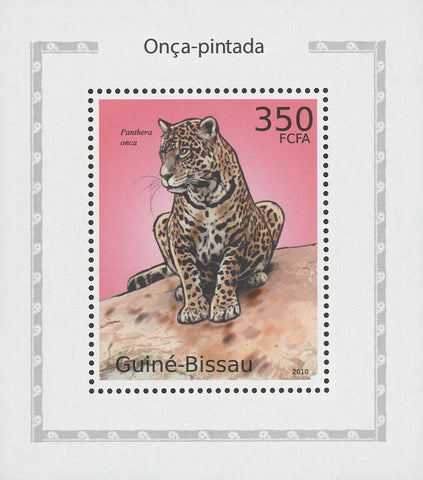Jaguars Panthera Onca Mini Sov. Sheet MNH