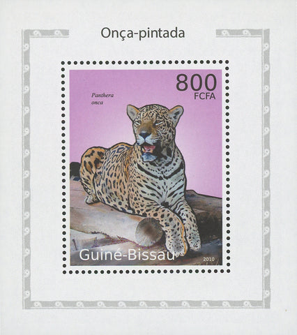 Jaguars Panthera Onca Trunk Mini Sov. Sheet MNH