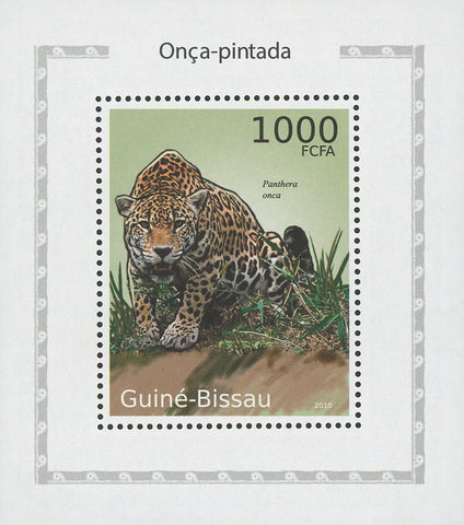 Jaguars Panthera Onca Wild Animals Mini Sov. Sheet MNH