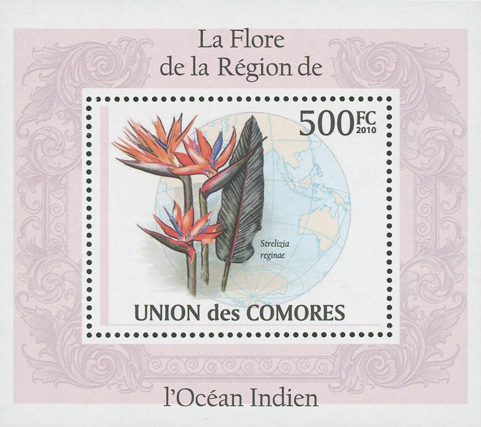 Flora Flowers Strelizia Reginae Mini Sov. Sheet MNH