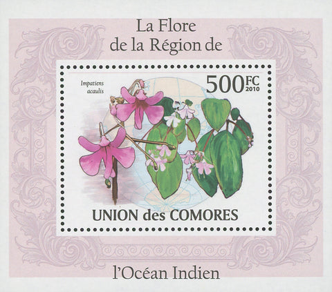 Flora Flowers Impatiens Acaulis Mini Sov. Sheet MNH