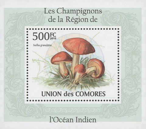 Indian Ocean Mushrooms Suillus Granulatus Mini Sov. Sheet MNH