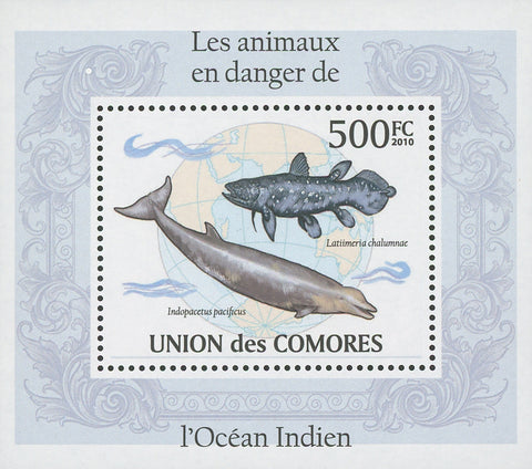 Indian Ocean Endangered Animals Indopacetus Mini Sov. Sheet MNH