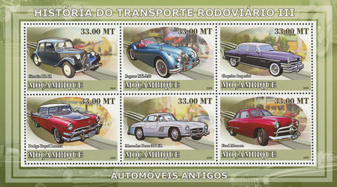 Road Transport Antique Cars History Sov. Sheet of 6 Stamps MNH Mint