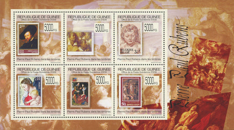 Guinea Stamp in a Stamp Pierre Paul Rubens  Sov. Sheet of 6 Stamps MNH