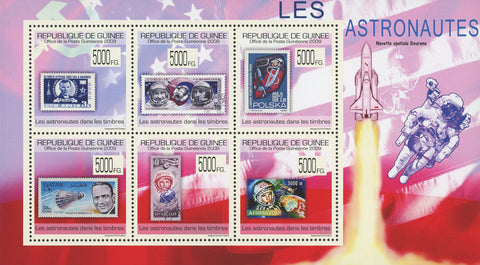Guinea Stamp in a Stamp Astronauts Souvenir Sheet of 6 Stamps MNH