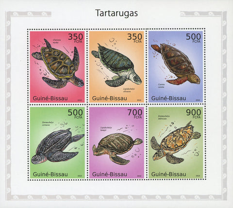 Guiné-Bissau Turtles Souvenir Sheet of 6 Stamps Mint NH