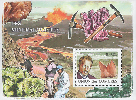 Mineralogists Stilbite Souvenir Sheet Mint NH