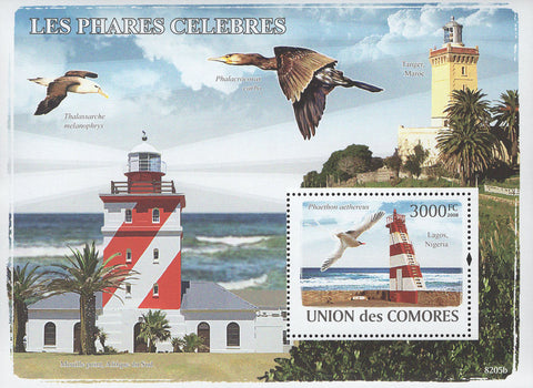 Famous Lighthouses Birds Souvenir Sheet Mint NH