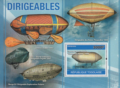 Dirigibles Sky Transportation Souvenir Sheet Mint NH