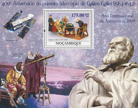 Mozambique Galileo Galilei First Telescope Anniversary Souvenir Sheet Mint NH