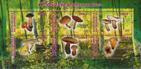 Mushrooms Nature Souvenir Sheet  of 6 Stamps Mint NH
