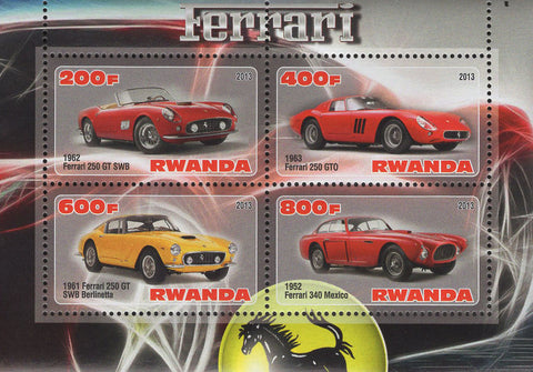 Ferrari 250 GT SWB Luxury Cars Souvenir Sheet of 4 Stamps Mint NH