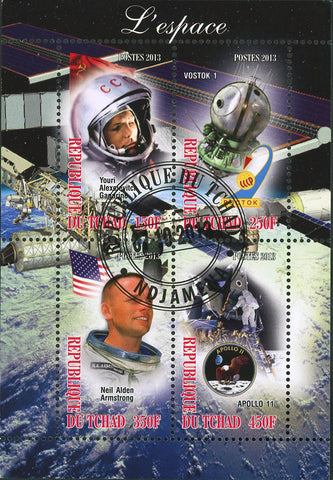 Apollo Satellite Space Astronautics Galaxy Vostok 1 Souvenir Sheet of 4 Sta