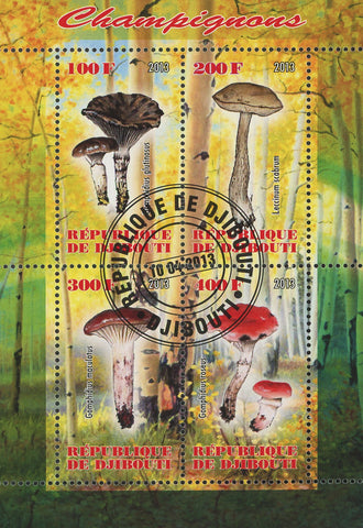 Mushroom Fungi Nature Tree Leaf  Souvenir Sheet of 4 Stamps