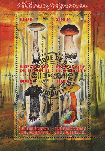 Mushroom Fungi Nature Tree Autumn Souvenir Sheet of 4 Stamps