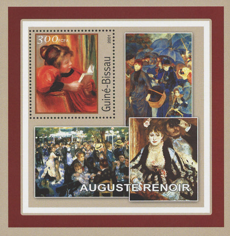 Famous Painter Auguste Renoir Art  Souvenir Sheet MNH