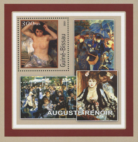 Famous Painter Auguste Renoir Art Souvenir Sheet Mint NH