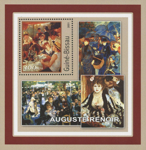 Famous Painter Auguste Renoir Art Painting Souvenir Sheet Mint NH