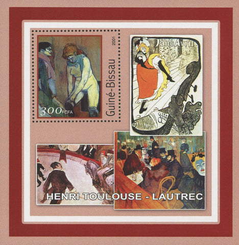 Famous Painter Henri Toulouse-Lautrec Art Painting Souvenir Sheet MNH