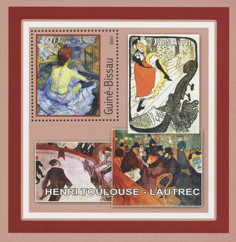 Famous Painter Henri Toulouse-Lautrec Art Souvenir Sheet Mint NH