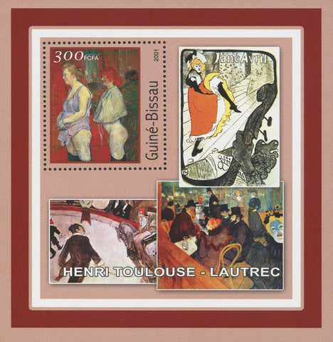 Famous Painter Henri Toulouse-Lautrec Art Souvenir Sheet MNH