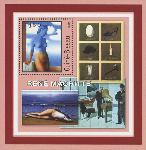 Famous Painter Rene Magritte Art Souvenir Sheet Mint NH
