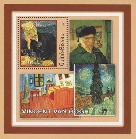 Famous Painter Vincent Van Gogh Art Souvenir Sheet Mint NH