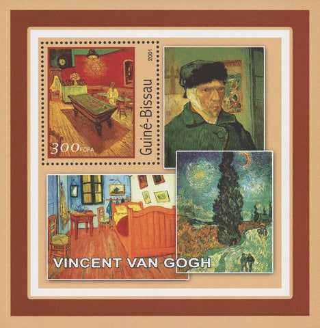 Guiné-Bissau Famous Art Painter Vincent Van Gogh Souvenir Sheet Mint NH