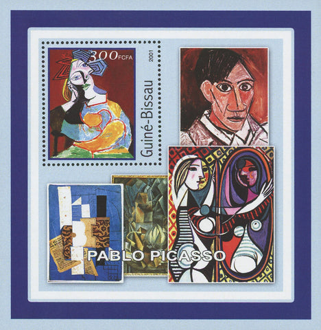 Guiné-Bissau Famous Art Painter Pablo Picasso Souvenir Sheet Mint NH