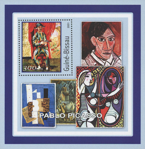 Guiné-Bissau Famous Art Painter Pablo Picasso Painting Souvenir Sheet Mint NH