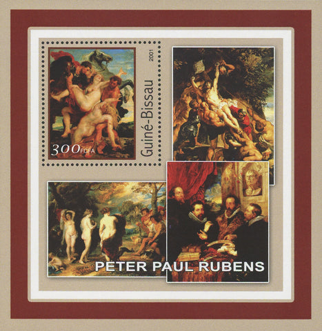 Guiné-Bissau Famous Art Painter Peter Paul Rubens Painting Souvenir Sheet Mint N