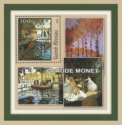 Guiné-Bissau Famous Art Painter Claude Monet Painting Souvenir Sheet Mint NH