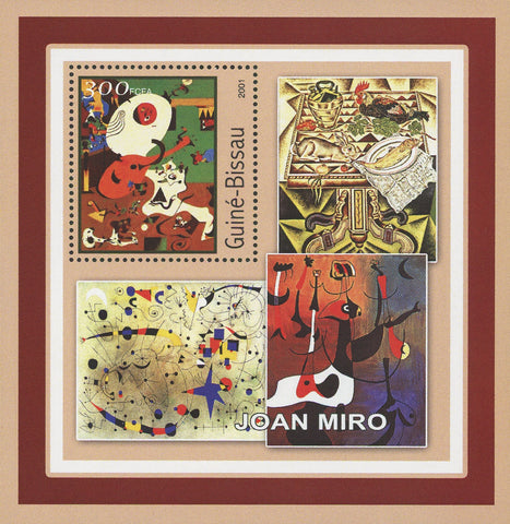 Guiné-Bissau Famous Art Painter Joan Miro Painting Souvenir Sheet Mint NH