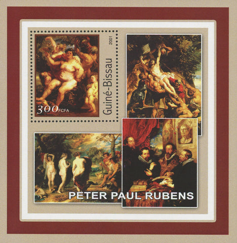 Guiné-Bissau Famous Art Painter Peter Paul Rubens Souvenir Sheet Mint NH