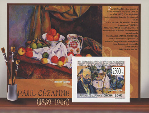 Guinea Famous Painter Paul Cezanne Art Imperforated Souvenir Sheet Mint NH