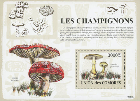 Mushroom Nature Souvenir Sheet Mint NH