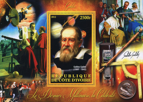 Galileo Galilei Telescope Souvenir Sheet Mint NH