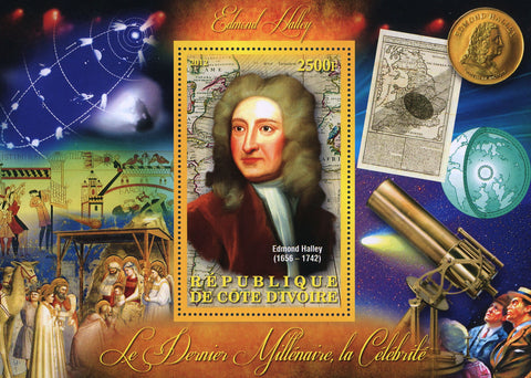 Edmond Halley Space Earth Souvenir Sheet Mint NH