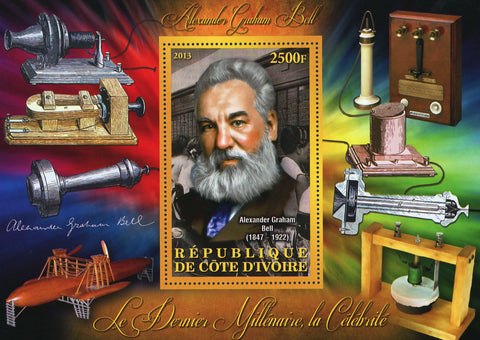 Alexander Graham Bell Science Telephone Souvenir Sheet Mint NH