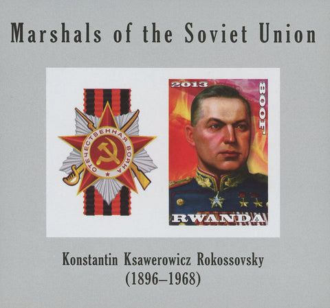 Rwanda Soviet Union Marshals Konstantin Ksawerowicz Rokossovky Imperforated Sov.