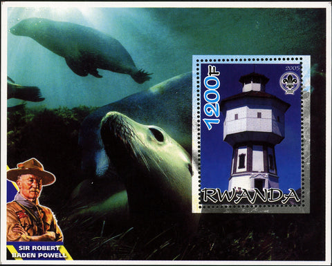 Seal Ocean Sir Robert Baden Powell Souvenir Sheet Mint NH