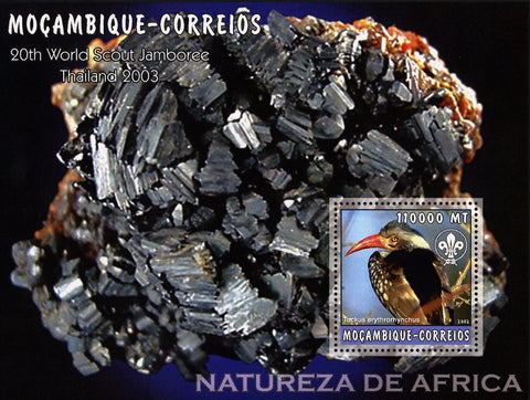 African Nature Minerals Birds Souvenir Sheet Mint NH