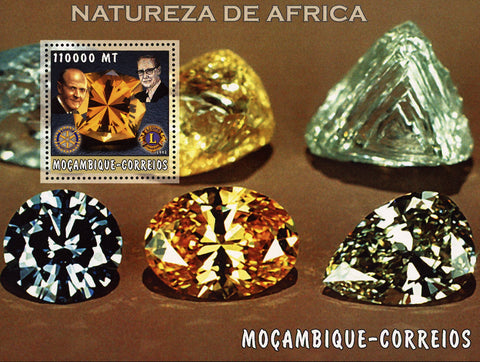 Mozambique African Nature Precious Stone Mineral Souvenir Sheet Mint NH