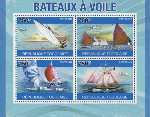 Sailing Boats Souvenir Sheet of 4 Stamps Mint NH
