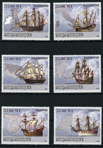 Maritime Transport Boat Ship Ocean Serie Set of 6 Stamps Mint NH